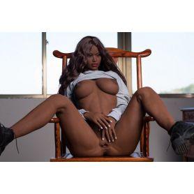 Sexy doll noire en TPE - Lorenza - 165 cm