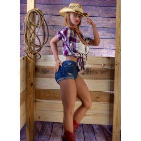 Sexy doll Cowgirl - Forte poitrine - Chisti- 165 cm