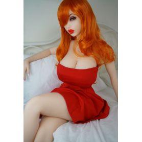Piper doll ultra réaliste en TPE - Jessica - Bonnet F - 150 cm
