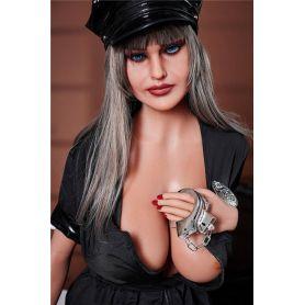 Femme en uniforme ultra sexy en Silicone TPE - IRONTECH - Jael - 163 cm Plus