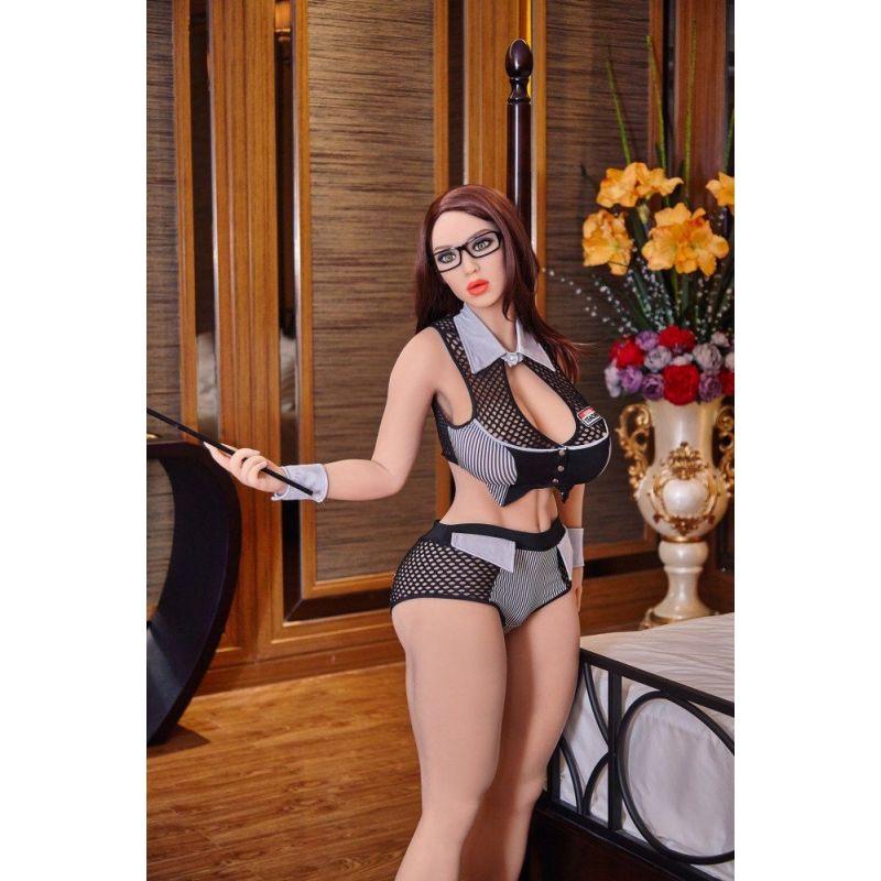 Secrétaire sportive en Silicone TPE Fat doll - IRONTECH DOLLS -  Akisha - 158 cm
